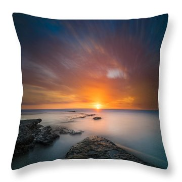 Seaside Sunset 2- Square Throw Pillow