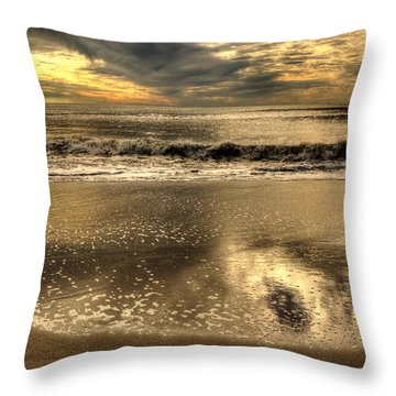 Throw Pillow featuring the photograph Seaside Sunset by Julis Simo