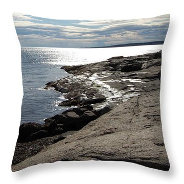 Throw Pillow featuring the photograph Seasider by Mim White