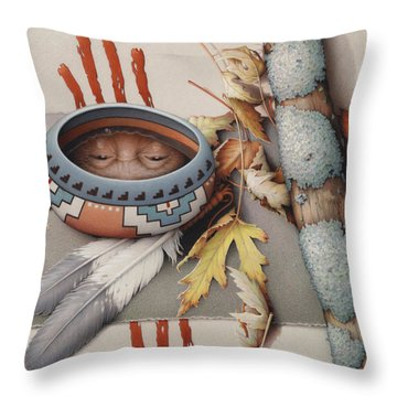 Season Of Remembrance Throw Pillow by Amy S Turner