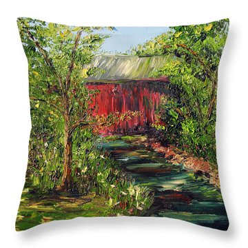 Season Of Singing Throw Pillow by Meaghan Troup