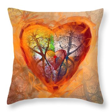 Season Of The Heart Throw Pillow