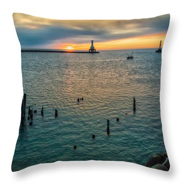 Season Opener Throw Pillow