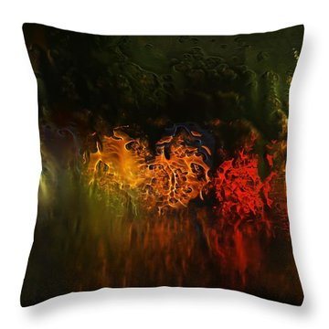 Seasons Fireballs Throw Pillow
