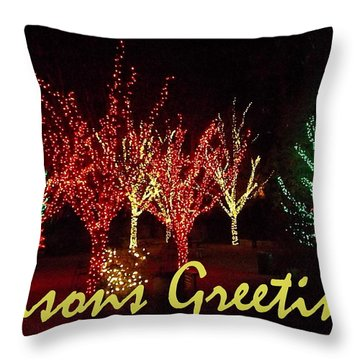 Seasons Greetings Throw Pillow by Darren Robinson