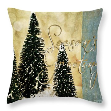 Season's Greetings Throw Pillow
