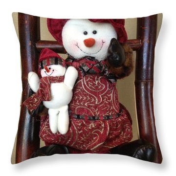 Seasons Greetings Throw Pillow