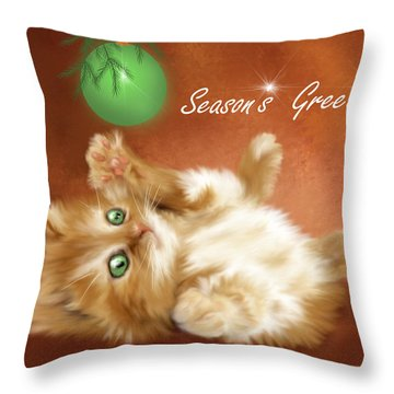 Season's Greetings Throw Pillow
