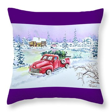 Winter Season Throw Pillow