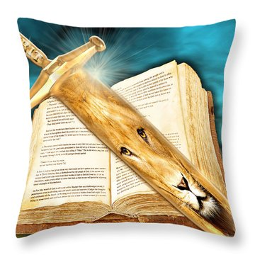 Seasons Of The Sword Throw Pillow
