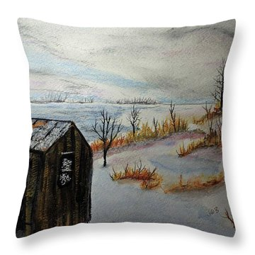 Throw Pillow featuring the painting Seasons Over 150121 by Jack G  Brauer