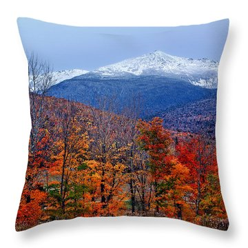 Seasons' Shift #2 - Mount Washington - White Mountains Throw Pillow