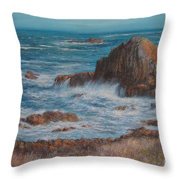 Seaspray Throw Pillow by Valerie Travers