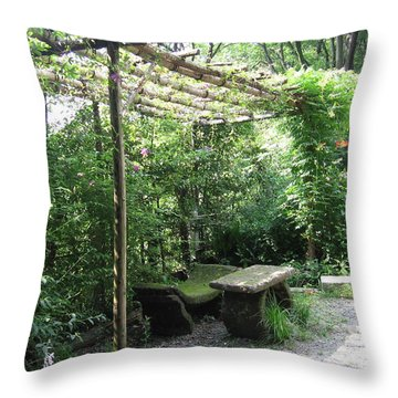 Seat Of Nature Throw Pillow