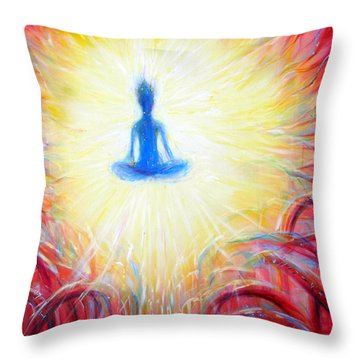 Throw Pillow featuring the painting Seat Of The Soul by Heather Calderon