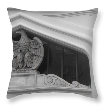 Seated Eagle Throw Pillow by Adria Trail