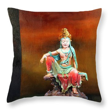 Seated Kuan Yin Throw Pillow