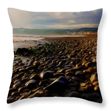 Throw Pillow featuring the digital art Seaton by Ron Harpham