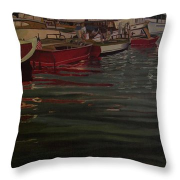 Seattle Boat Show Throw Pillow by Thu Nguyen