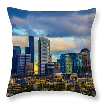 Seattle Cityscape Throw Pillow