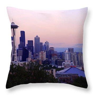 Seattle Dawning Throw Pillow by Chad Dutson