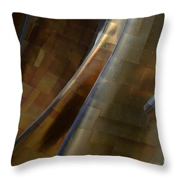 Seattle Emp Building 5 Throw Pillow by Bob Christopher