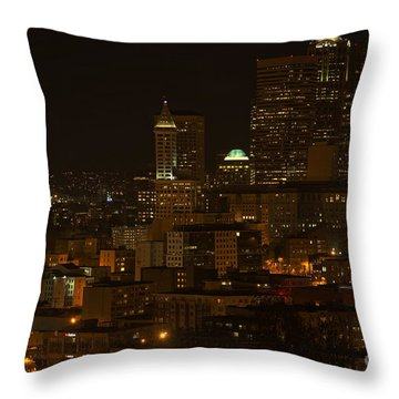 Seattle Lights Too Throw Pillow