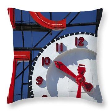 Seattle Market Sign Throw Pillow by Brian Jannsen