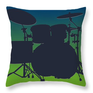 Seattle Seahawks Drum Set Throw Pillow by Joe Hamilton