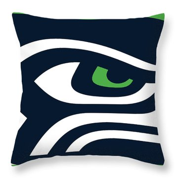 Seattle Seahawks Throw Pillow by Tony Rubino