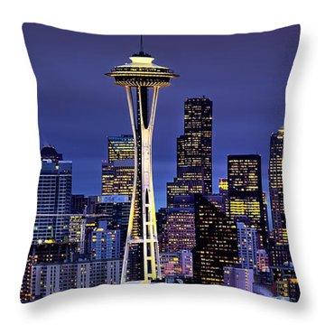 Seattle Skies Throw Pillow