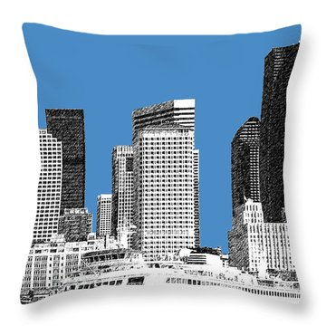 Seattle Skyline - Slate Throw Pillow by DB Artist
