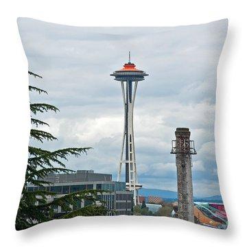 Seattle Spaceneedle Golden Anniversary Art Prints Throw Pillow