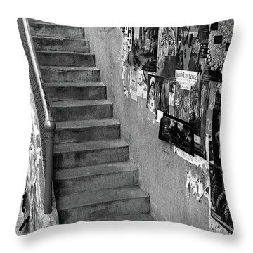 Seattle Stairs Throw Pillow