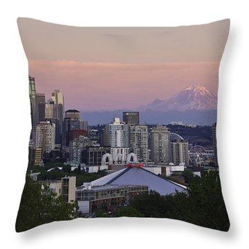 Seattle Sunset - Kerry Park Throw Pillow
