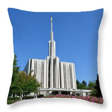 Seattle Temple Throw Pillow