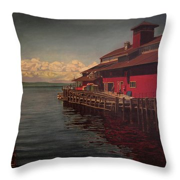 Seattle Waterfront Throw Pillow by Thu Nguyen