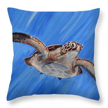 Seaturtle Throw Pillow