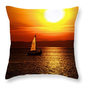 Seaview Sunset Throw Pillow