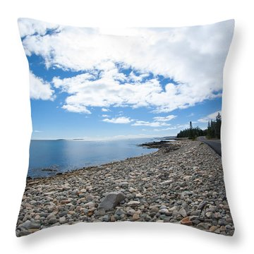 Throw Pillow featuring the photograph Seawall - Acadia by Kirkodd Photography Of New England