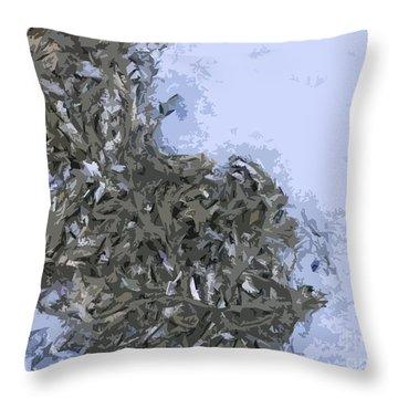 Seaweed Throw Pillow by Carol Lynch