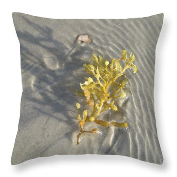 Seaweed Sand Throw Pillow by Ellen Meakin