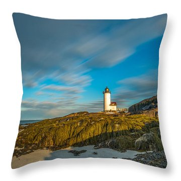Seaweed Swagger And Time Traveling Clouds  At Annisquam Harbor L Throw Pillow