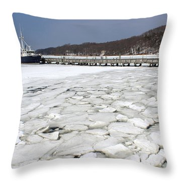 Seawolf Port Jefferson New York Throw Pillow by Bob Savage
