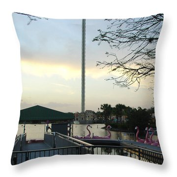 Throw Pillow featuring the photograph Seaworld Skytower by David Nicholls