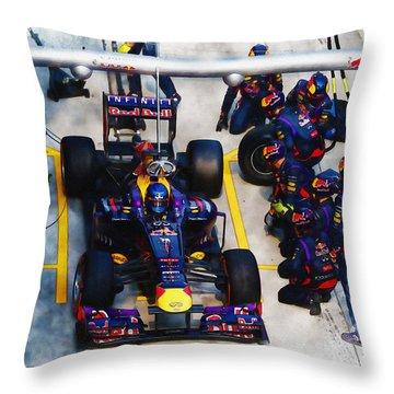 Sebastian Vettel Of Germany Throw Pillow