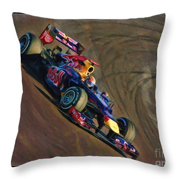 Sebastian Vettel - Red Bull Throw Pillow