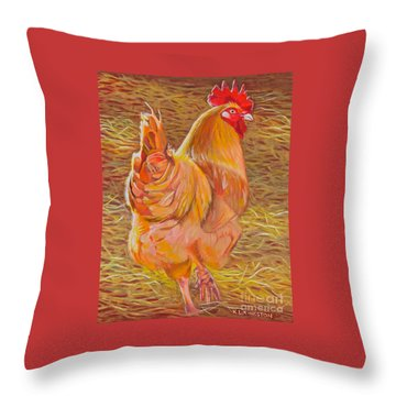 Sebastopol Rooster Throw Pillow