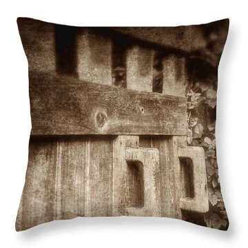 Secluded Garden Throw Pillow by Tom Mc Nemar