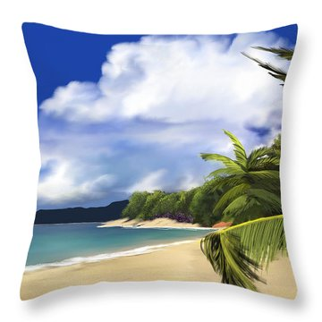Throw Pillow featuring the digital art Secluded Hideaway by Anthony Fishburne